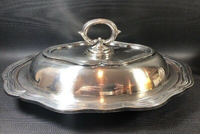 Barbour Silver Co Silverplated Covered Oval Serving Dish With Handle 1890's 7A