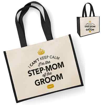 Step Mom Of The Groom Gift Idea Wedding Party Bridal Bag Hen Party Present