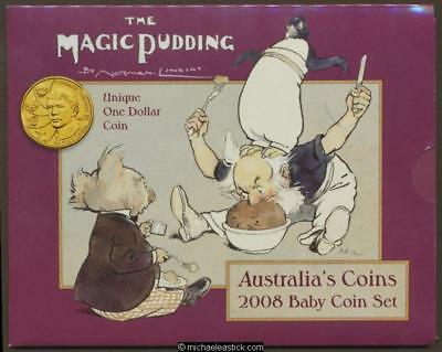 2008 Uncirculated Baby Coin Set (Special Norman Lindsay $1 coin)