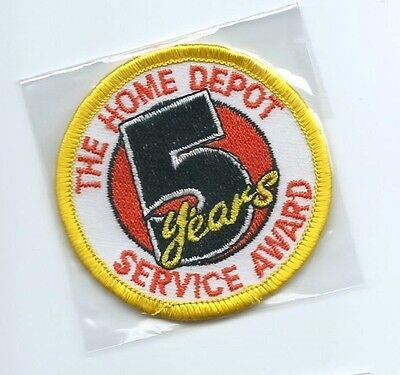 The Home Depot 5 years service award employee patch 2-1/2 dia #35