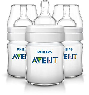 Philips Avent Anti-colic Baby Bottles Clear, 4oz, 3 Piece