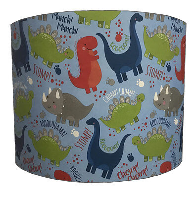 Dinosaurs Lampshades Ideal to Match Dinosaur Duvet Covers, Dinosaur Quilt Covers