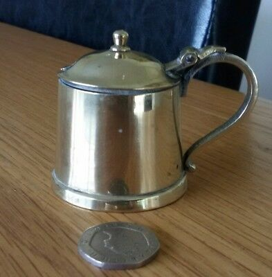 Vintage Silver Plated mustard Pot with Flat Base