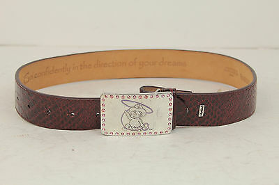 Ariat Belt WINE SNAKE PRINT FAT BABY BUCKLE WITH STONES SZ. 26/65