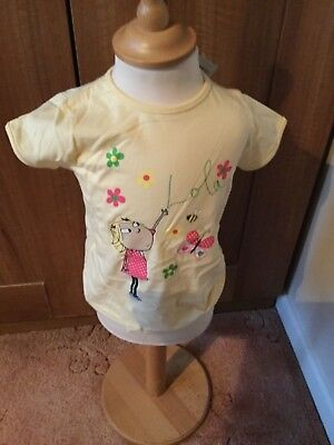 Charlie  and Lola Pale Yellow T Shirt BNWT