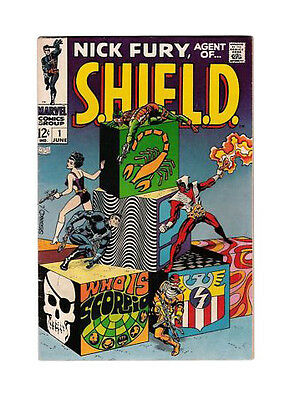 Nick Fury, Agent of SHIELD 1 FN+(6.5)! Solo Series Begins! Steranko!