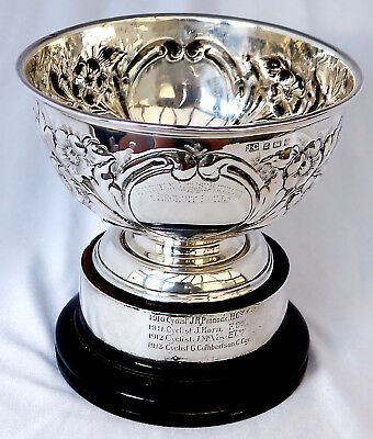 Rare 1907 Sterling Silver Trophy Prize. Northern Cyclist Battalion Recruit Bowl.