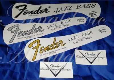 Fender Jazz Bass Decal Decalcomania Serial Number Gold / Grey / Black