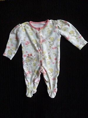 Baby clothes GIRL newborn 0-1m Disney@George Bambi cream/peach babygrow