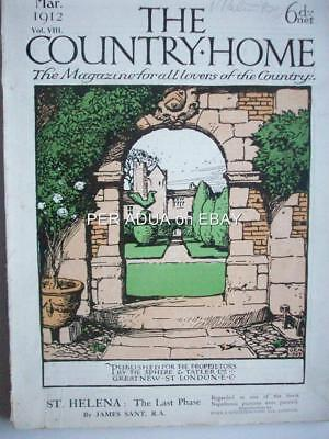 1912 COUNTRY HOME magazn Old House SANDWICH + Bob-Tailed Sheepdogs + Tiffany USA