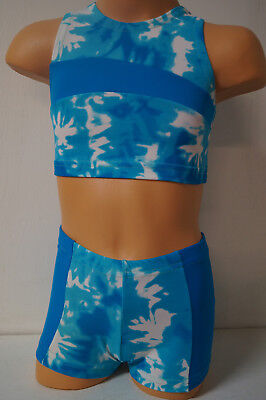 Gymnastics, Dance, Shorts and Top  Child Size: S, M.