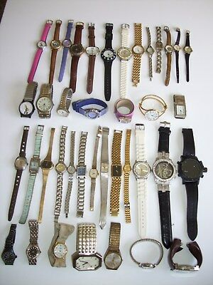 Lot of 40  Womens, Mens & Character Watches, 20 Working, 20 for Repair or Parts