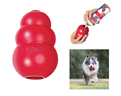 KONG Worlds Best Dog Toy Classic Rubber Chew Toy For Dogs Stuffing Treats Medium