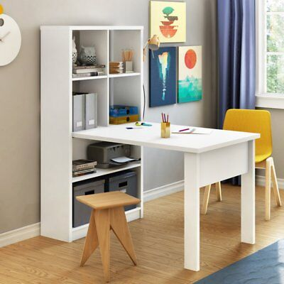 Annexe Work Table and Storage Unit by South Shore, Pure White