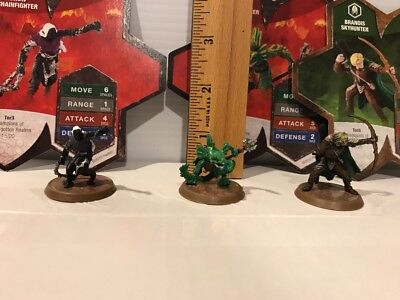 Heroscape CHAMPIONS  of the FORGOTTEN REALMS Wave 11- 3 FIGURES + CARDS SKYHUNTE