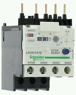 Schneider Electric LR2K0312 Thermal Overload Relay 3.7 5.5 A 3 Pole TeSys 023056