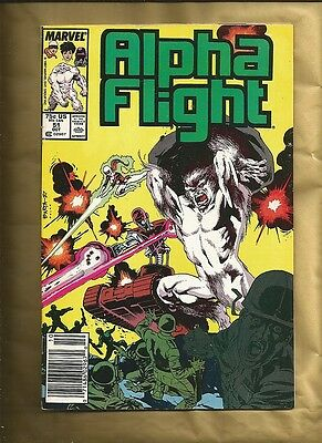 Alpha Flight 51 vfn 1987 1st Jim Lee work at Marvel Comics Barcode variant cover