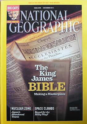 National Geographic December 2011 The King James Bible  + Big Cats Poster
