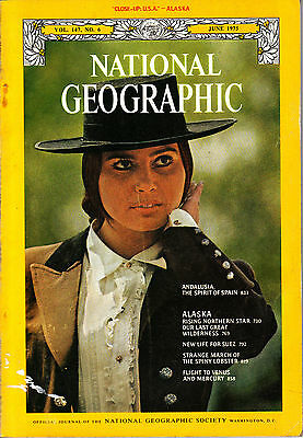 National Geographic June 1975 Alaska Suez Spiny Lobster Andalusia Venus Mercury