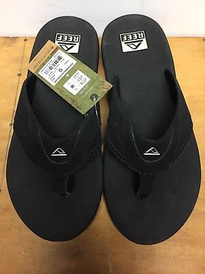 2a8e6c74318a NWT Men s Reef Sandals 2026 Fanning Blacksilver Sz 9 Bottle Opener on bottom