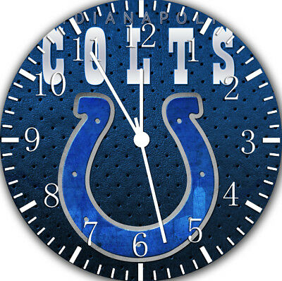 INDIANAPOLIS COLTS FRAMELESS Borderless Wall Clock Nice For Gifts or ...