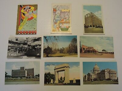 Vintage lot of 9 Postcards from the 1940's Historic