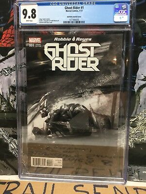 Ghost Rider #1 Dell'Otto B+W Variant Cover Ltd to 1500 Marvel Comics CGC 9.8