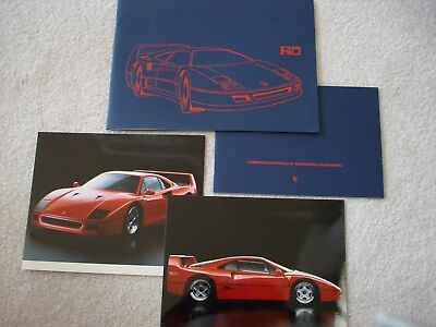 Ferrari F40: Brochure & Press Kit, Superb Condition. . .