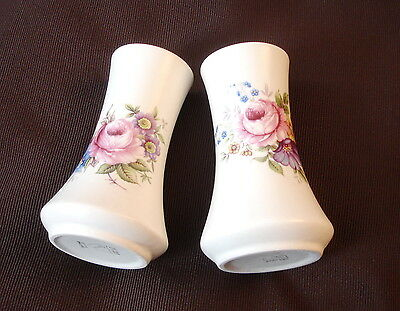 A pair of Hand Painted AXE VALE Pottery Devon England Floral Vase