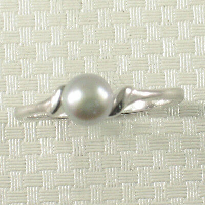 Solid Sterling Silver .925 Silver Tone F/W Cultured Pearl Solitaire Ring TPJ