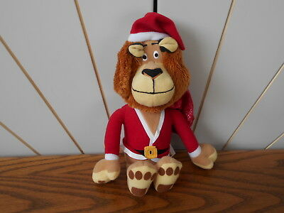 SANTA SUIT ALEX THE LION character soft toy MERRY MADAGASCAR Christmas 2009