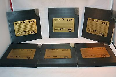 Reel to reel 7 inch Scotch 207 1800 ft In Hard Cases GUC Listing For One Tape