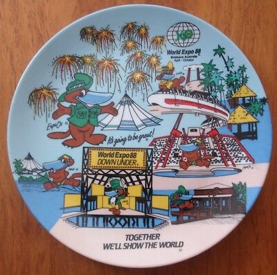 World Expo 88 Bribane Australia Expo Oz Commemorative Plate