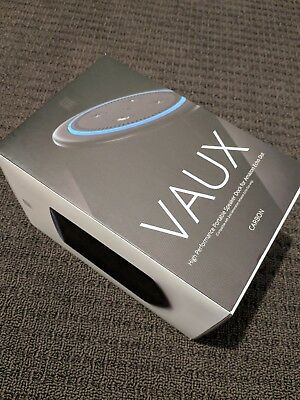 VAUX Cordless Home Speaker+ Portable Battery for Amazon Echo Dot Gen2 Blk/Carbon