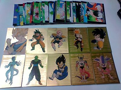 dragon BALL Z series 3 complete set of common and metalic gold cards