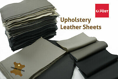 x3 Cowhide craft panels/pieces grainy upholstery leather Various sizes 1-1.2 mm