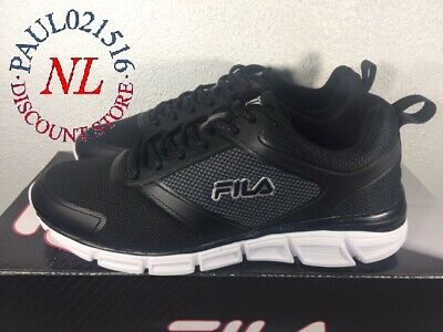 Fila Men's Memory Steelsprint Athletic Shoes ~ Black ~ Various Sizes/ Condition