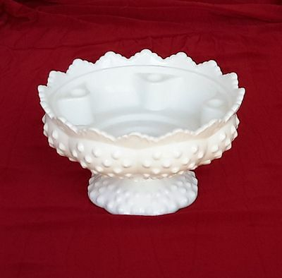 Fenton Milk Glass Hobnail Candle Holder ~ Holds 6 Candles ~ Patent No 3547569