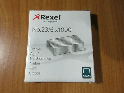 1 x Rexel Tacker No 23/6 Staples 1000/Box free postage