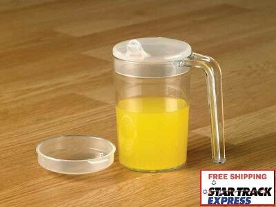 Shatterproof Unbreakable Drinking Mug Cup with Spout and Recessed Lids, 400ml