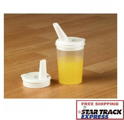 Feeding Sippy Cup with Adjustable Spout (Pack of 2) - For Elderly Disabled 250ml