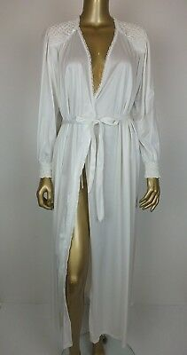 Vintage Long Maxi Lace Night Dressing Gown Robe 12