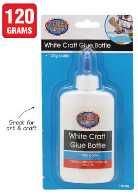 New - Kids White Craft Glue Bottle Scrap Booking Toys Play 120G