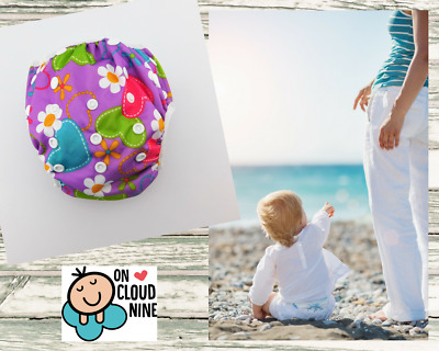 Reusable SWIM NAPPY -HEARTS-  OSFM Baby Diaper Pants Swimmer Newborn to Toddler