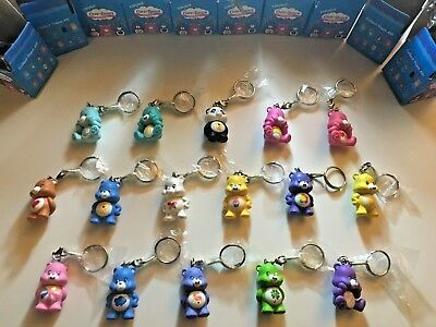 Kidrobot Care Bears Keychains 16 Complete Set w Chase Birthday & True Heart Bear