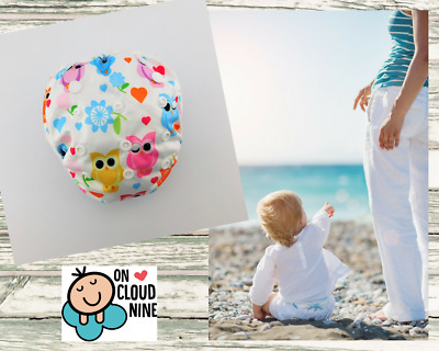 Reusable SWIM NAPPY - OWLS-  OSFM Baby Diaper Pants Swimmer Newborn to Toddler