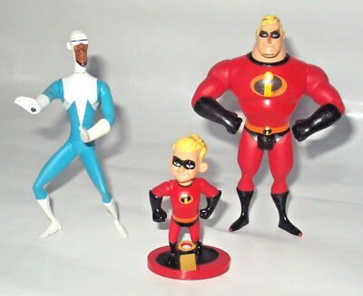 Disney Pixar The Incredibles 3 Vintage Action Figure Set Collection Hasbro 2003