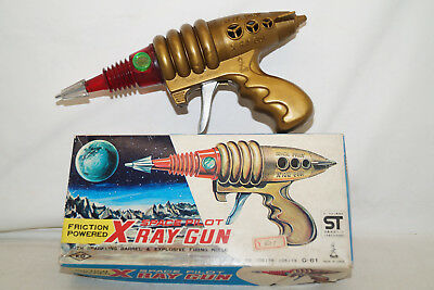 X-RAY GUN Space Pilot TOY Pistole mit Funkenflug Taiyo Japan 60/70th