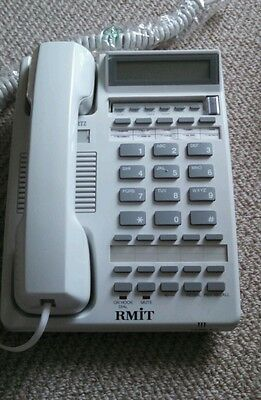 Interquartz Model E2 Corded Phone with LCD, PBX & large buttons