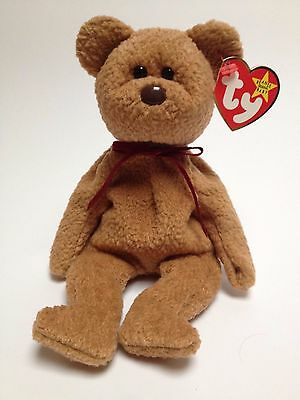 TY Beanie Baby CURLY *mint*
